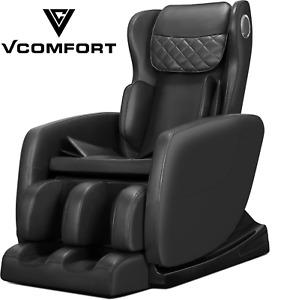 vComfort™ Full Body Electric Shiatsu Zero Gravity Recliner Massage Chair, Black