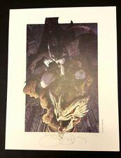 Simone Bianchi stampa 33x43 numerata 400 copie firmata Batman DC Comics