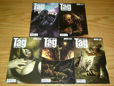 Keith Giffen's Tag: Cursed #1-5 VF/NM complete series - zombie horror 2 3 4 set