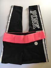 Victoria's Secret PINK Cotton Flat Legging Size L Black Pink
