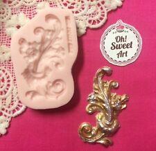 Medallion Vintage Scroll II silicone mold fondant cake decorating wax soap jewel