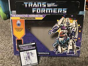 G1 1986 TRANSFORMERS Headmasters SNAPDRAGON Vintage Empty Box w/ Instructions