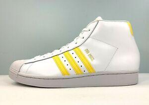 adidas Originals Pro Model Basketball Shoes White Yellow FV4972 Men's Size 13