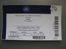 MUSE  O2 LONDON  15/04/2016  TICKET