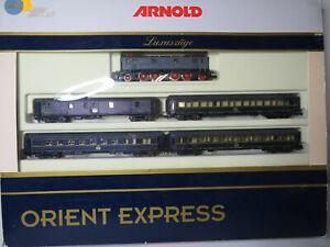 245N - Arnold 70379 - Zugset Orient Express mit Elok E 16 grau - top in OVP