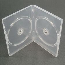 10 Chiaro Doppio 2 Way DVD CD Conservazione Casi Con Manicotto-fianco a fianco