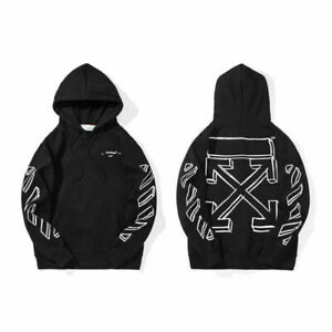 Off White Virgil Abloh Classic Printing Arrow Hoodie Street Sweatshirt Unisex UK