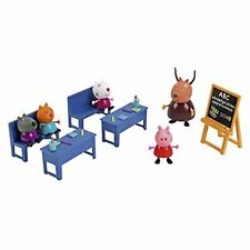 DAMAGED BOX - Peppa Pig Classroom School with 5 Figures Toy Playset