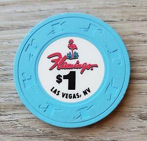 $1 Las Vegas Flamingo Casino Chip Version 2 - Near Mint