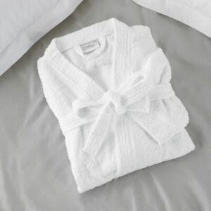UNISEX KIMONO STYLE 100% COTTON TERRY TOWELLING BATH ROBE DRESSING GOWN TOWEL