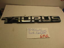 1992-1995 Ford Taurus trunk nameplate emblem decal logo badge symbol oem