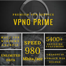 VPN Account 1 Year Service / Unlimited Data 1 User Server - Fast Email Delivery
