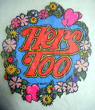 "Vintage 1973 Roach ""HERS TOO"" Iron-on Transfer"