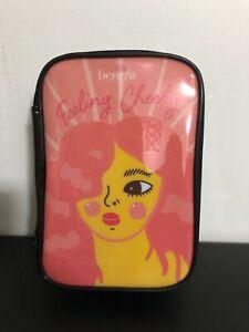 "Benefit ""Feeling Cheeky"" Cheek Catalog Makeup Travel Zipped Case Bag Pink/Black"