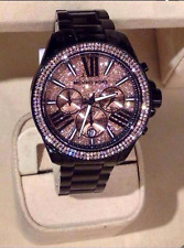 NEW MICHAEL KORS MK5879 WREN PAVE ROSE CRYSTAL LADIES CHRONOGRAPH WATCH UK