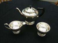 VINTAGE SHEFFIELD  SILVER  PLATED THREE PIECE TEA SERVICE...