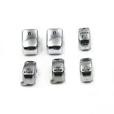 6 pcs Hand Control Switch Housings Handlebar Switch Button Cover For Harley Dyna