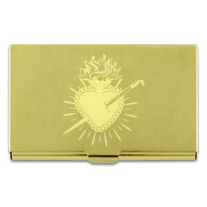 """ACME Studio FRIDA KAHLO """"Heart"""" Etched Brass Business Card Case NEW"""