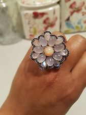 Carlo Viani flower Cocktail ring