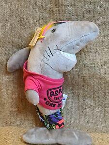 "Russ Surf Cruisers Shark Plush Ron Jon's Surf Shop 15"" Clothes Tags EUC"