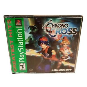 Sony PlayStation 1 Greatest Hits Chrono Cross Square Soft Two Disc CASE ONLY