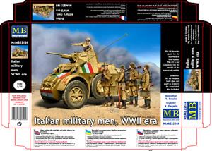 Master Box 35144 Italian military men, WWII era Scale Plastic Model Kit 1/35
