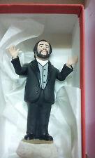 STATUETTA  luciano pavarotti 15 CM  PASTORE PRESEPE  TERRACOTTA   made italy dvv