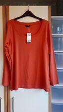 NWT Ladies George orange cotton top size 20