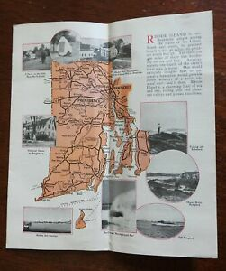 Rhode Island Travel Brochure c. 1930 aerial photos maps local history