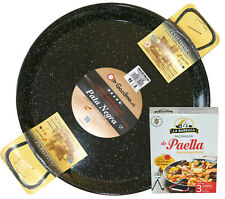 Induction & Vitro PATA NEGRA 42cm Enamelled Steel Paella Pan +Spanish GIFT