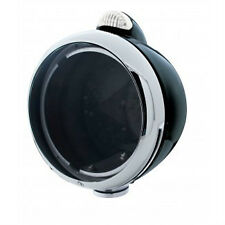 Vintage Style Black Headlight Housing/Chrome Rim, Rat / Hot / Street Rod
