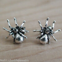 Spider Post Earrings - 925 Sterling Silver - Studs Halloween NEW
