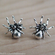 Spider Earrings - 925 Sterling Silver Post Earrings *NEW* Halloween Stud