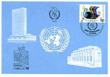 Maximumkarte MK 1986 Vereinte Nationen UNO Genf Nr 145 Osnabrück Frieden MK208