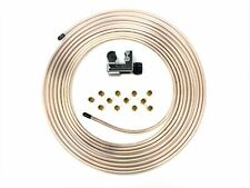 "25 Ft. Roll of 1/4"" Copper Nickel Brake Line Tubing w/ Tube cutter & 12 fittings"