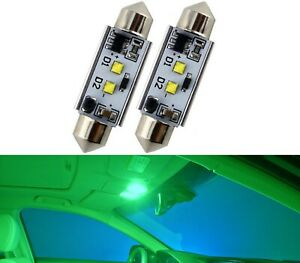 LED Light Canbus Error Free 6411 6W Green Two Bulb Interior Dome Upgrade Stock