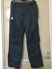 Women's Adidas Work Pants Track Suit Bottom Side Zips Dark Blue Size UK 14