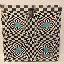 "Psychedelic 60s Vintage Acid Freakout Record Case 12"" LP Holder Box platter pak?"
