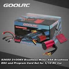 Brushless GoolRC S3650 3100KV Motor 45A ESC and Program Card Combo Set RC F2H1