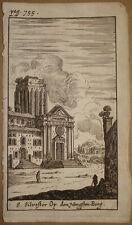 stampa antica old print S. Silvestro al Quirinale gravure roma kupferstich 1661