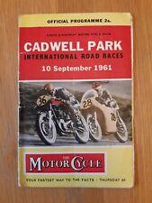 Cadwell Park International Road Races Programmes 1961/1962