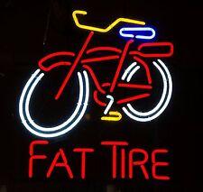 """New Fat Tire Bicycle Belgian Bike Beer Neon Light Sign 17""""x14"""""""
