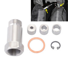 Straight M18x1.5 Oxygen Sensor Bung Adjustable O2 Spacer Extenter Nozzle Jet 1x