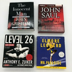 Audiobooks on CD lot John Grisham, John Saul, Anthony Zuiker, Elmore Leonard