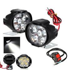 2x LED Roller Motorrad Scheinwerfer Fernlicht Zusatzlampe Universal mit Schalter