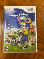 Super Swing Golf Season 2 (Nintendo Wii , 2007) Complete Tested