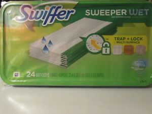 Swiffer Sweeper Wet Mopping Cloth Pad Refills   Large 24 Pads Count