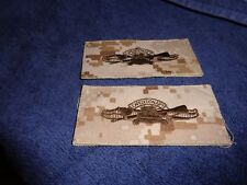 Usn Us Navy Nwu type ii Desert Tan Expeditionary Removeable Patch Hook Set