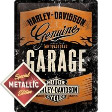 HARLEY DAVIDSON GARAGE BLECHSCHILD 30X40 CM Special Edition 63304 Metallic