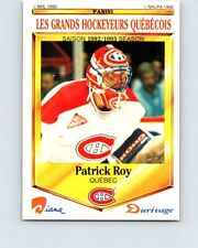 1992-93 Durivage Panini #50 Patrick Roy / Montreal Canadiens